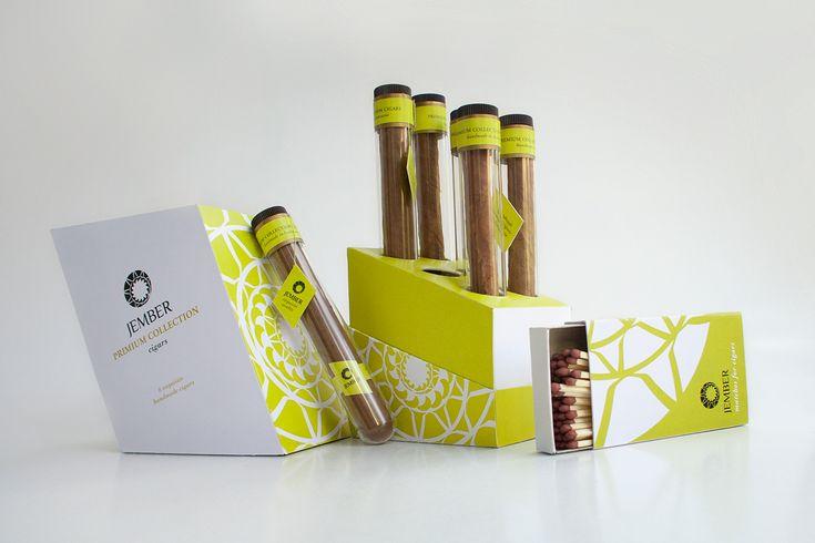 Дизайнер из Норвегии Olesya Tørum создала дизайн для индонезийского бренда JEMBER CIGARS и комплексную конструкцию упаковки для шести сигар этого бренда.   Цель проекта привлечь внимание потребителей к индонезийским сигарам, способным создать конкуренцию кубинским сигарам и сигарам из Доминиканской Республики.  Сами сигары упакованы поштучно в прозрачные колбы, а колбы упакованы по шесть штук в картонные коробки оригинальной конструкции. Коробки имеют трапециевидную форму, так как сигары…