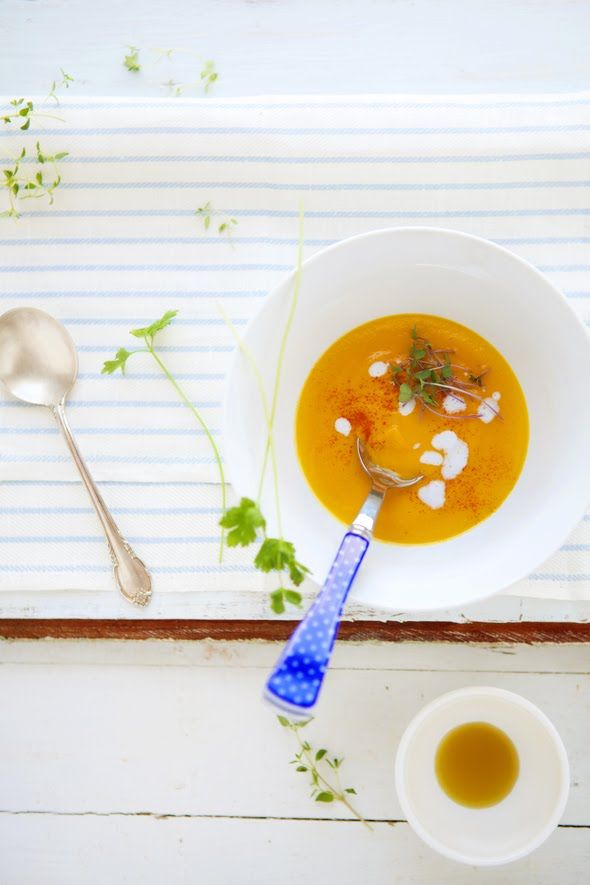 Carrot and Apple Soup with Cumin and Coriander