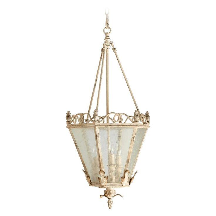 Quorum Lighting Salento Persian White Pendant Light with Hexagon Shade at Destination Lighting