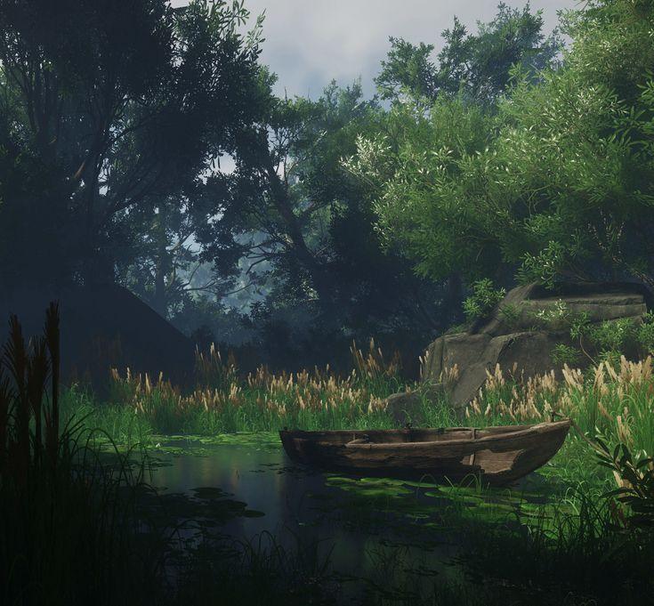 Pond Environments (CryEngine V), Per Bellersen on ArtStation at https://www.artstation.com/artwork/a31WJ