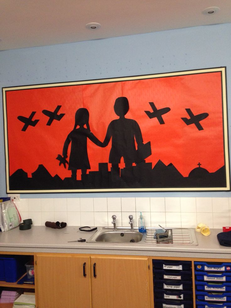 World War 2 display background