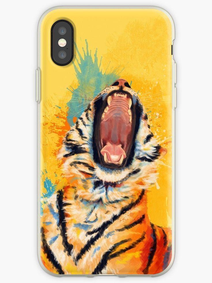 huge discount 5a41f d4f0c Wild Yawn - Tiger portrait, colorful tiger, animal illustration ...