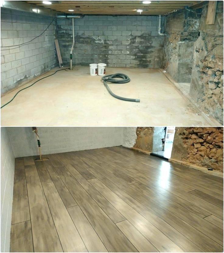 Laminate Flooring In Basement Concrete Rustic Basement Basement Remodeling Basement Design
