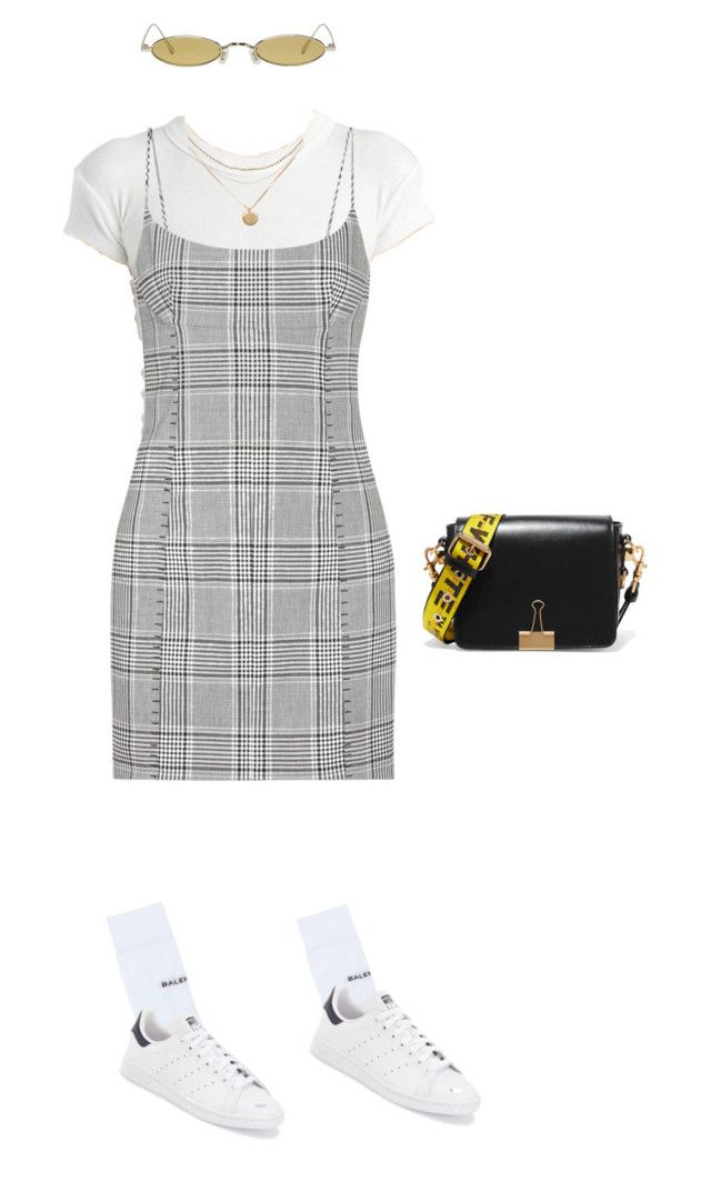 """""""Untitled #8"""" by yasminhxo ❤ liked on Polyvore featuring Alexander Wang, Balenciaga, adidas, Off-White and Gentle Monster"""