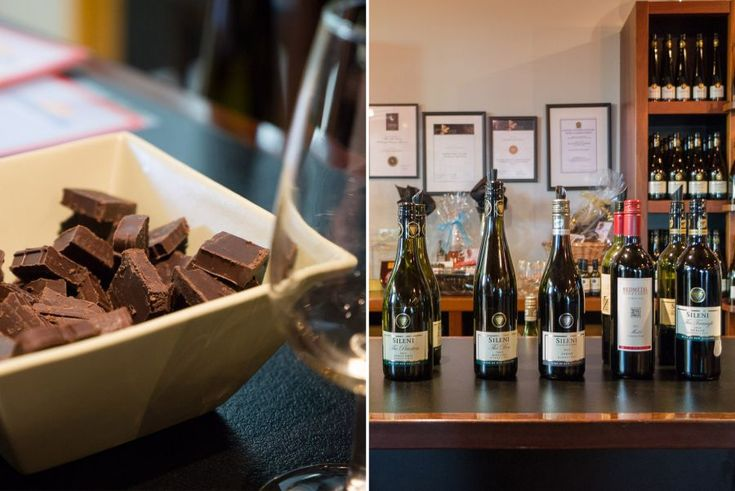 Wine and chocolate tasting at Sileni Estates Winery Cellar Door