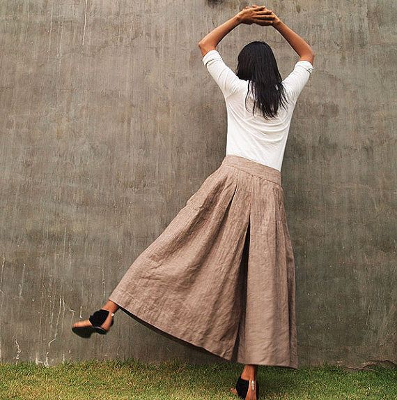 WORE BLACK AND TEA STAIN RUFFLE BLOUSE ON WEDDING DAY 21 YEARS OLD  linen trousers from cocoricooo