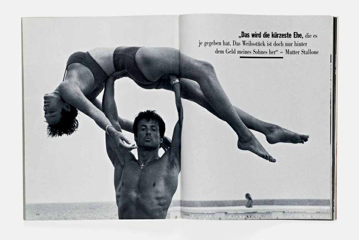 Sylvester Stallone et Brigitte Nielsen par Herb Ritts
