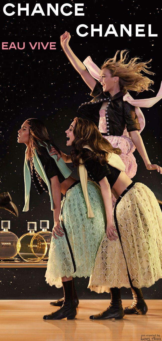 Models: Cindy Bruna, Sigrid Agren, and Romy Schonberger for Chanel Chance Eau Vive by Director: Jean-Paul Goude