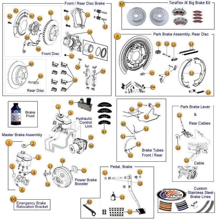 Interactive Diagram  Wrangler JK & JK Unlimited Brake