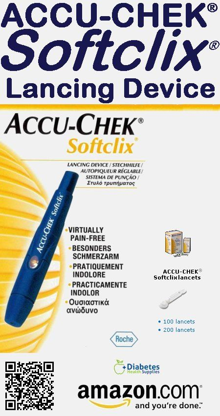 The ACCU-CHEK Softclix Lancing Device uses the same technology as the ACCU-CHEK FastClix device, which has been proven least painful. Personalized comfort. The lancing device's Comfort Dial offers 11 customizable depth settings for different skin types. Precise lancet movement. Unique technology minimizes painful side-to-side motion. Precisely manufactured lancets.