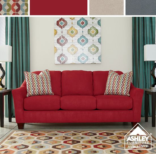 Hot red sofa! Coming Soon! Hannin Spice Sofa - Ashley Furniture HomeStore
