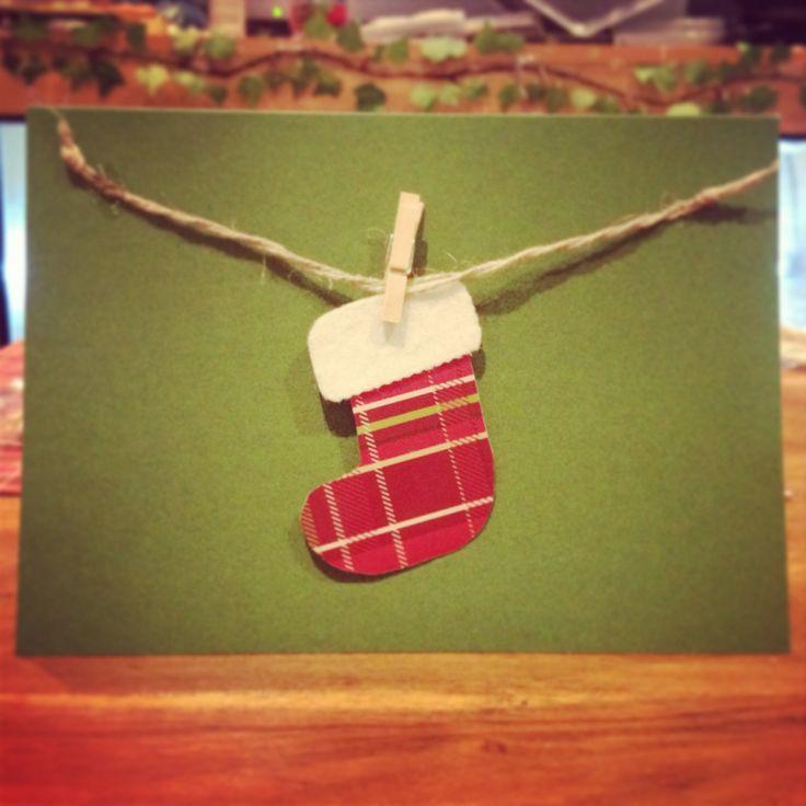 Home made Christmas cards! www.stephandpenny.com