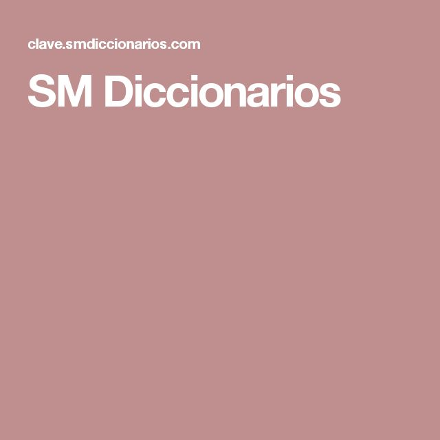 SM Diccionarios
