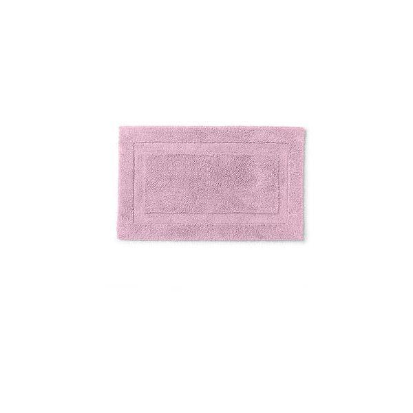 Ralph Lauren Home 21 x 34 Wescott Bath Rug (200 HRK) ❤ liked on Polyvore featuring home, bed & bath, bath, bath rugs, pergola pink, non skid bath rugs, pink bathroom rugs, non skid bathroom rugs, pink bath rug and ralph lauren home
