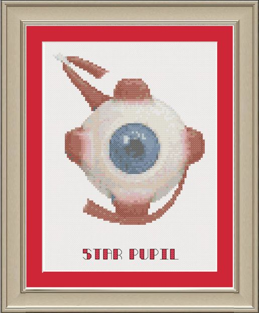 Star Pupil | Cross-stitch Patterns By Nerdy Little Stitcher | Pinterest | Anatomy Eye Anatomy ...