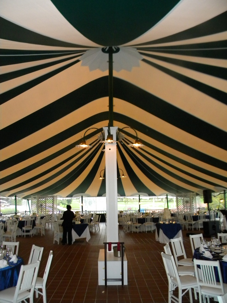 Striped Wedding Tent Black And White Tent Wedding