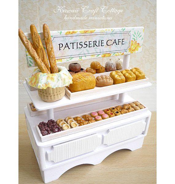 1:12 Scale, Miniature, Dollhouse, Bakery, Set, Shop, Cafe
