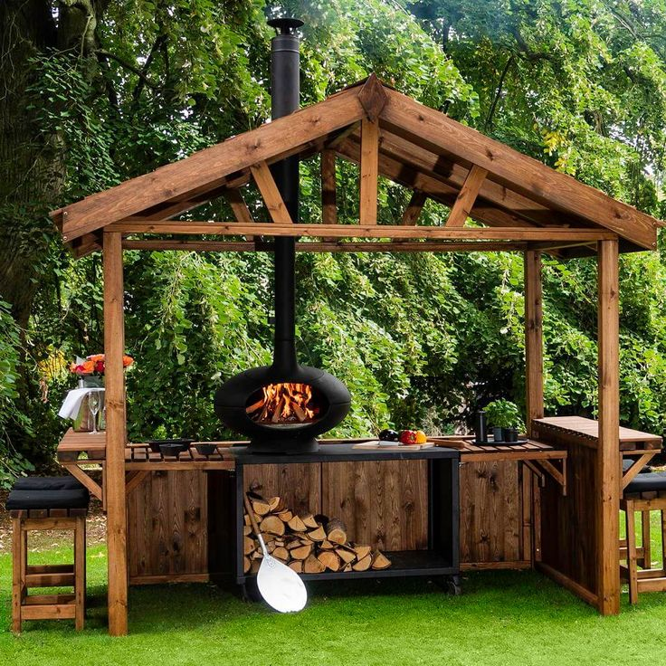 10 wood outdoor kitchen ideas 2020 totally natural simple outdoor kitchen diy outdoor on outdoor kitchen bbq id=97685