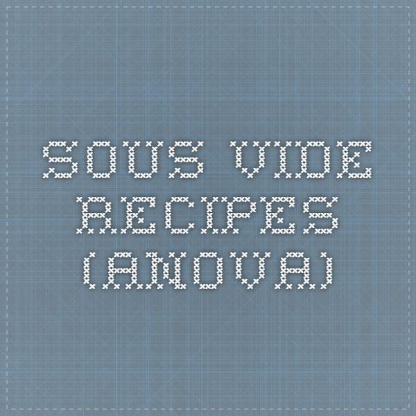 Sous Vide Recipes (Anova)