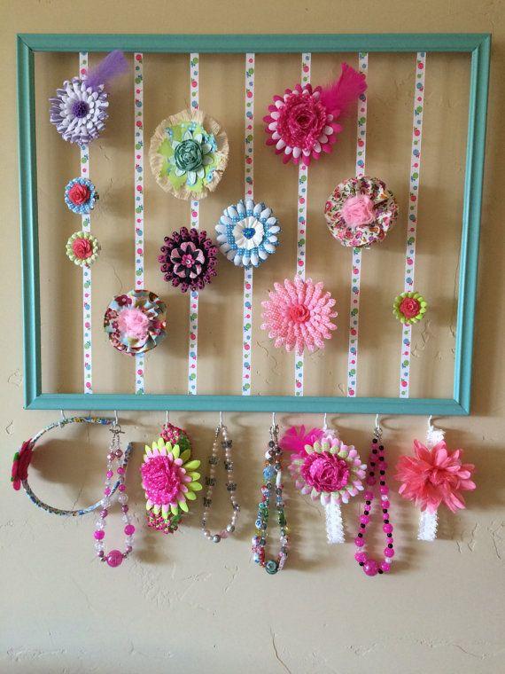 Hair Clip Organizer  Hair Clip Frame  Jewelry by GirlyTwirls