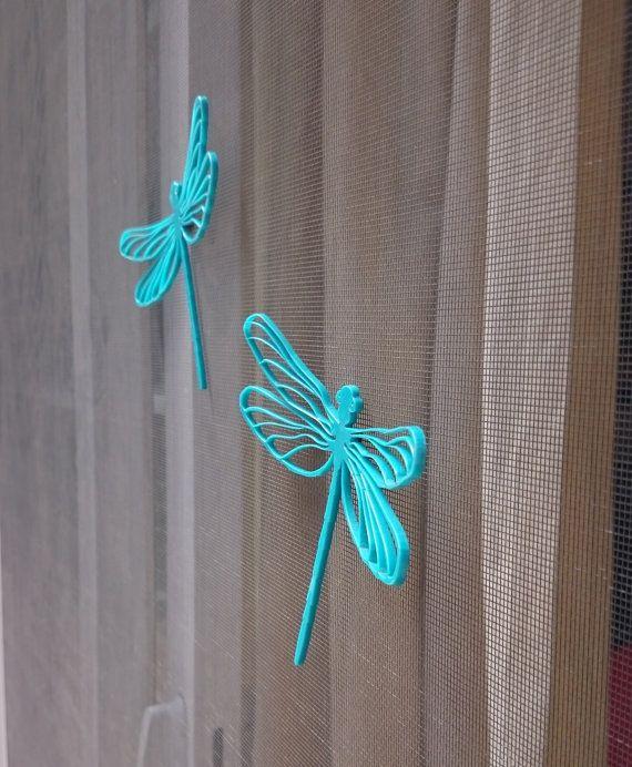 3d Screen Door Saver Magnetic Decal Magic Dragonfly