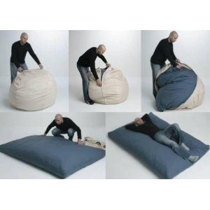 Bean2Bed™ Beanbag becomes a bed for guests