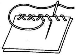 крестообразный обметочный шов