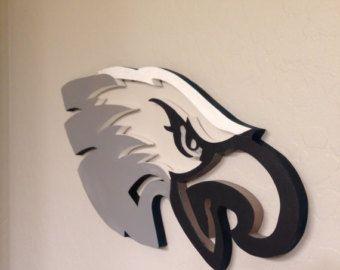 Philadelphia Eagles Man Cave Accessories : Philadelphia eagles sports wall decor sign wooden man cave