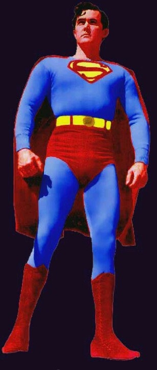 """The legendary Kirk Alyn as Superman from the great movie serial era. He was the first live action filmed Superman that appeared in two serials from 1948 & 1950, """"Superman"""" & Atom Man vs. Superman""""."""