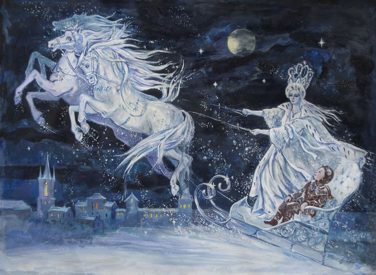 """The seven stories of """"The Snow Queen"""" constitute Andersen's longest fairy tale about a boy and a girl who meet a doomed fate at the hands of the evil Snow Queen."""