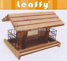 Leaffy - madeira de cedro vermelho alimentador de pássaros BF3104