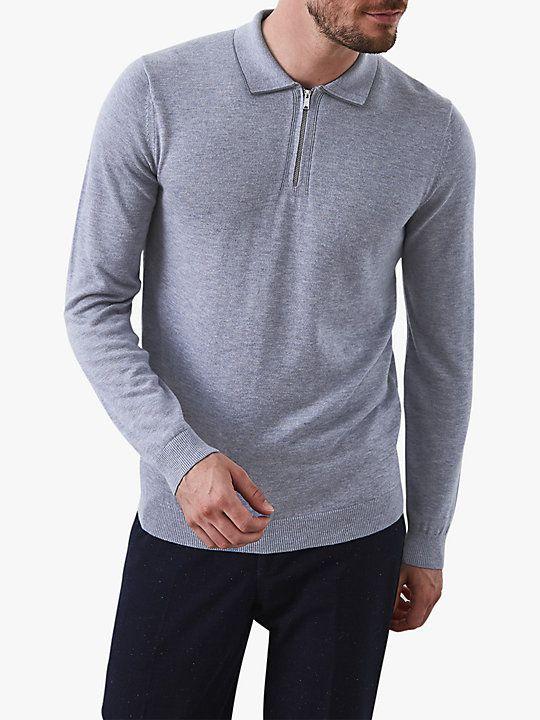 e5d663585 Reiss Goldmire Half Zip Long Sleeve Polo Shirt   Chung in 2019 ...