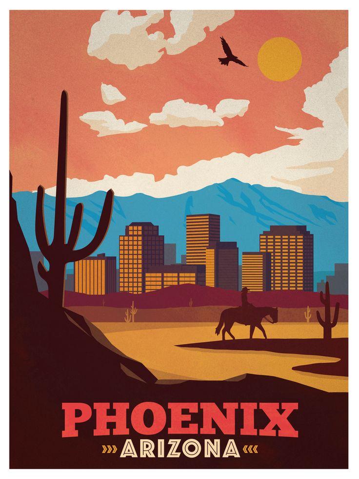 Vintage Phoenix Poster.