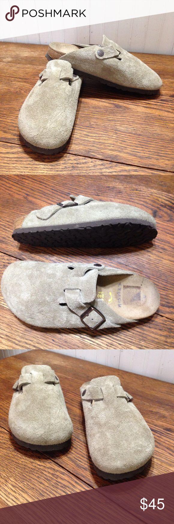 Birkenstock tan euro size 37/ ladies size 6 Birkenstock tan euro size 37/ ladies size 6, men's size 4 good condition, just pen marks on the inside heels Birkenstock Shoes
