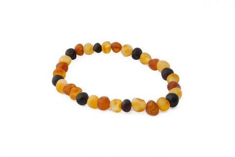 Raw Multicoloured Baroque Amber Bracelet - Adult – Amberocks