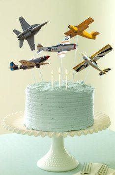 airplane cake toppers This seems more within my range of abilities.