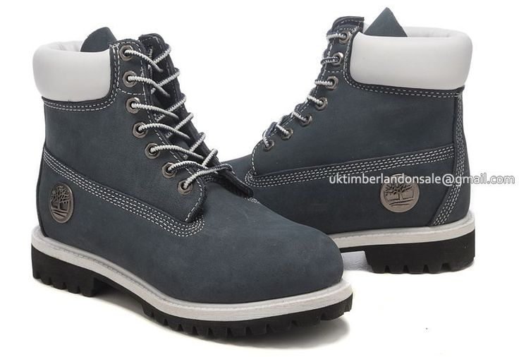 Timberland Men's 6-Inch Classic Boots Navy Blue $85.00