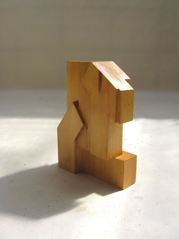 wooden sculpture | Modernist Wooden Sculpture By Louis Goulmy