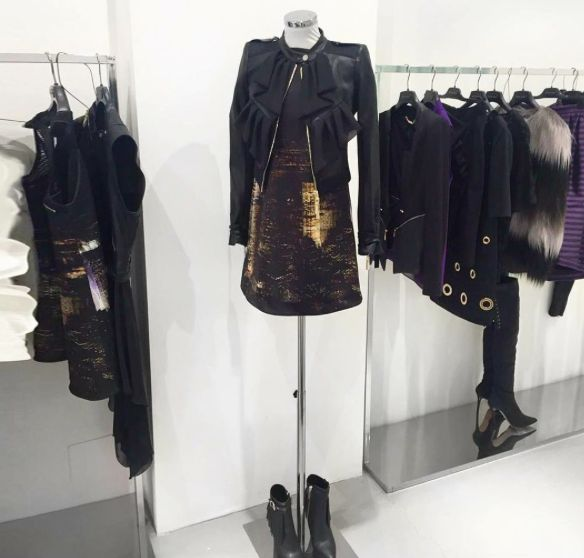 """Skyline printed dresses ✨ discover it in our store in Via Santa Maria 35, Desenzano del Garda Dress """"Circus"""" and leather jacket """"Clara"""" available also online"""