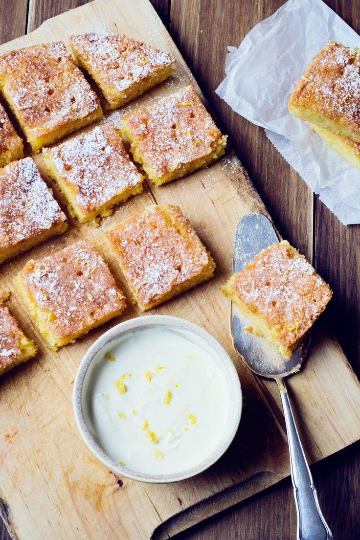 Bizcocho de limón y polenta sin gluten