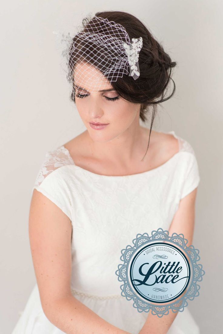 Birdcage veils are an elegant and high fashion accessory for your modern couture or vintage touch wedding.