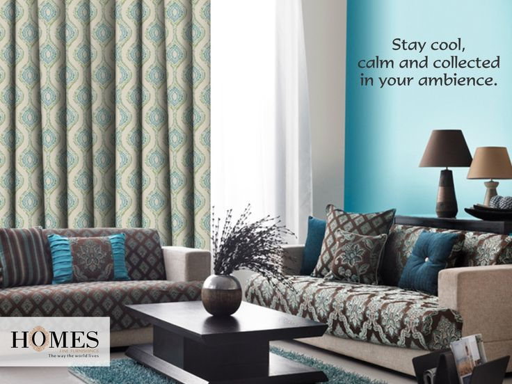 Try the ultra cool blue furnishings for an ultra cool ambience. #HomeQuote #QuoteOfTheDay #HomeQuotes #Quotes