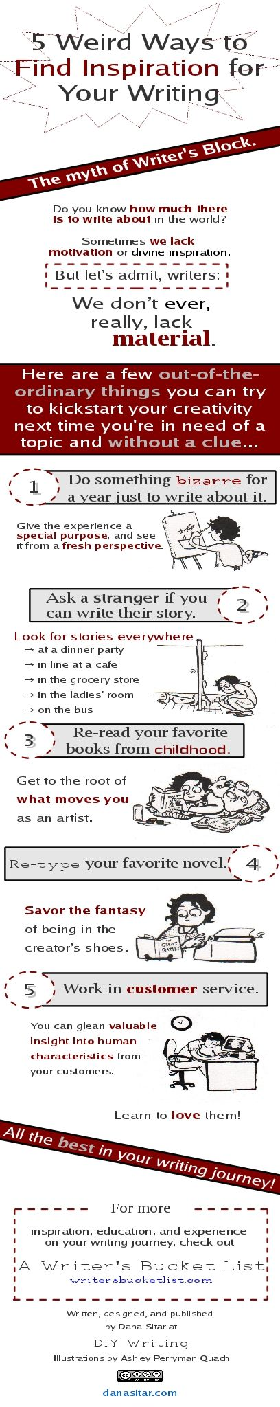 5 Weird Ways to Find Inspiration for Your Writing [Infographic]