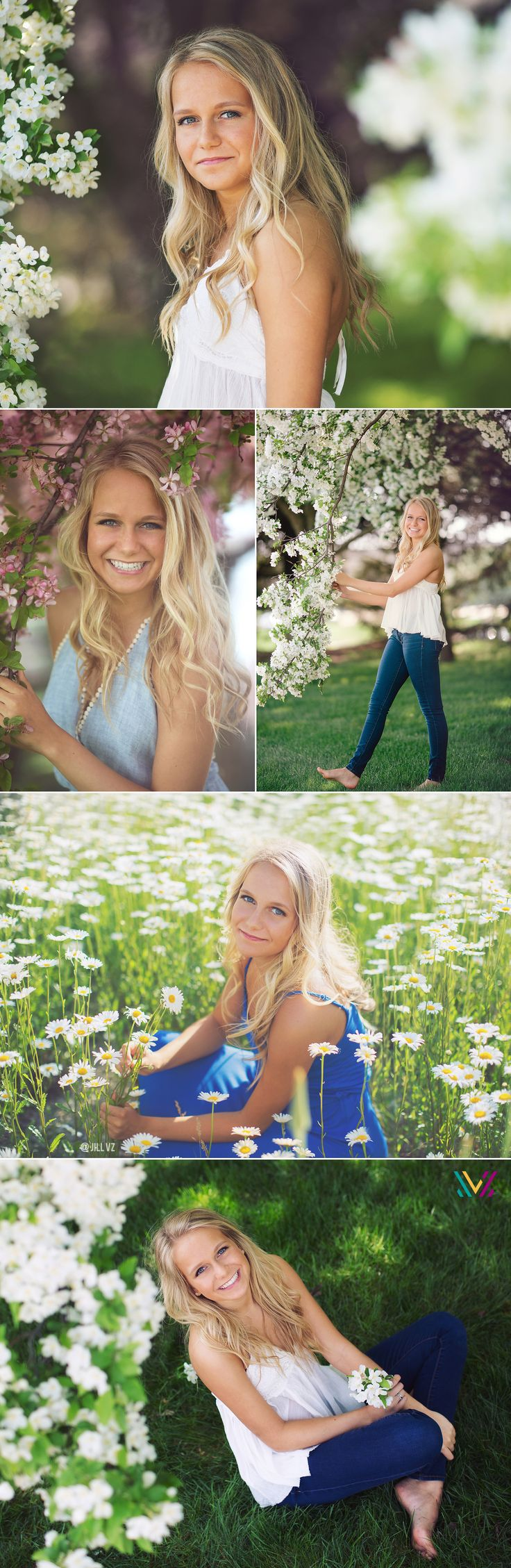 Spring Tree. Blossoms and flowers senior photos des moines iowa