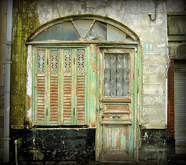 Old French Door And Shutters. Taken In Arras Nord-Pas-de-Calais FR Photographer Kat. & Nord French Doors u0026 No Automatic Alt Text Available.