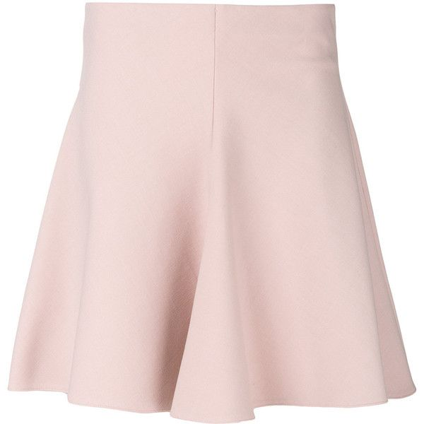Red Valentino skater skirt ($390) ❤ liked on Polyvore featuring skirts, light pink skirt, circle skirts, red valentino, pink skater skirt and pink circle skirt
