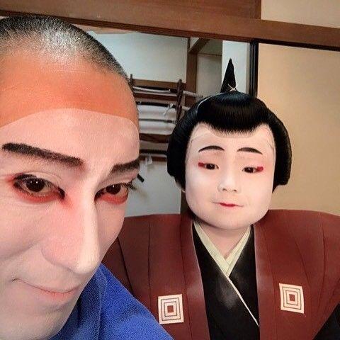 Sprighty Kid, Ukon kun. He wants the deep fried chicken again. … いつも元気な右近くん。 また唐揚げ食べたいらしい笑 … #市川海老蔵 #海老蔵 #成田屋  #歌舞伎 #市川右近 #右近 #ebizoichikawa #ebizo #abkai #kabuki #thunderparty #theater #theaterarts #japan #classic #instagram