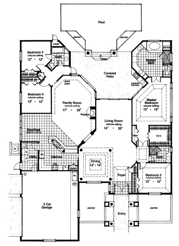 First Floor Plan Of Florida Mediterranean House Plan 63065 This Is The  House That I Will One Day Be Able To Build With Godu0027s Blessing!