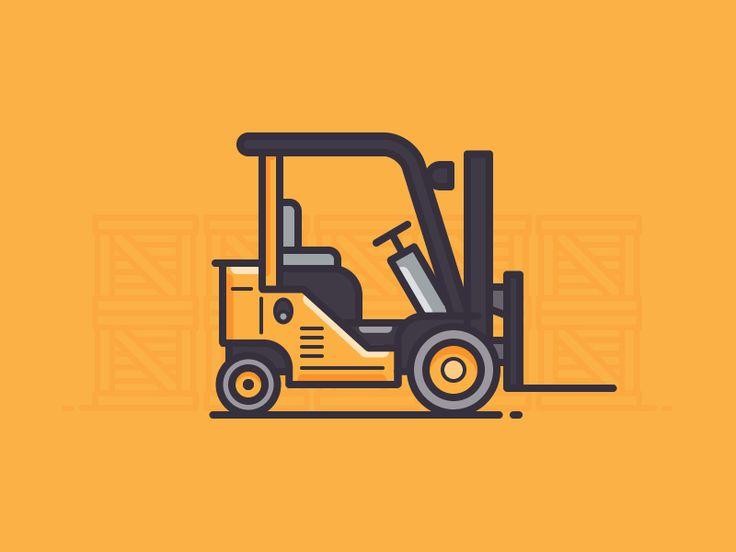 Dribbble - Forklift by Scott Tusk