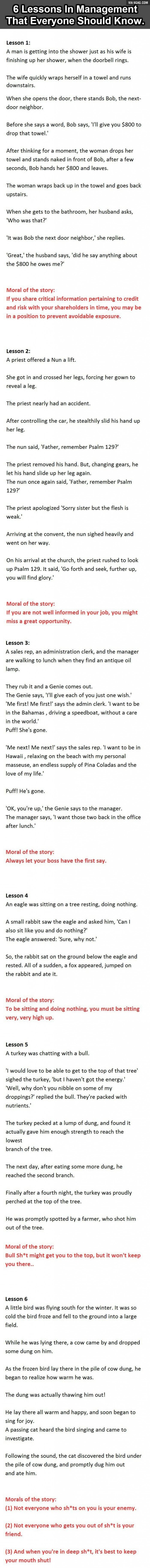 6 Management Lessons That Everyone Should Know - 9GAG